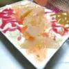 名古屋駅の地下にあるスイーツのお店・C3(シーキューブ)で買った桃のティラミスの、上のふたを外したところ