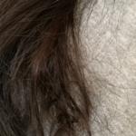 洗い方検証arau編・2日目昼の髪の様子