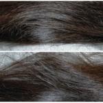 ビオリスボタニカルヘアマスクを使って1日目の髪・ドライヤー乾燥と自然乾燥の比較横向き