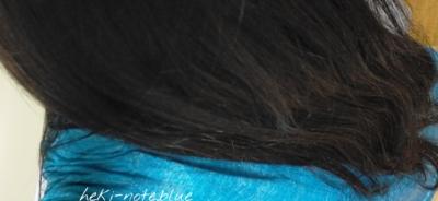 エルセーヴ エクストラオーディナリー オイル ダブルヘアパックしっとりを使って2日目の写真