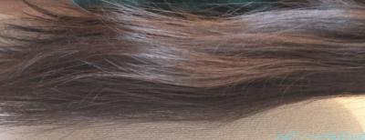 エルセーヴ エクストラオーディナリー オイル ダブルヘアパックしっとりを後日改めて使った時の写真・その2の横向き