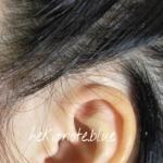 バイタリズムオーガニックウーマンを使って3日目くらいの頭皮の様子。耳周辺